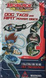 2012 beyblade metal fusion dog tags and rifit power discs pack
