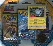 2017 pokemon trading card game sun and moon three pack blister