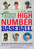 2018 topps heritage high number baseball retail hanger box
