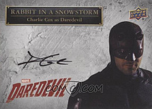 2018 upper deck daredevil seasons 1 2 rabbit in a snowstorm autographs ss dd charlie cox daredevil