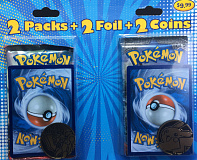 fairfield pokemon tcg 2 packs 2 foil 2 coins breakthrough burning shadows