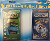 fairfield pokemon 2 packs 1 foil 1 break blister